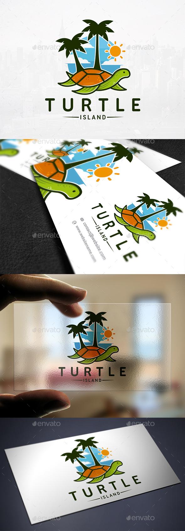 Turtle Resort Logo Template - Humans Logo Templates