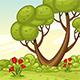 Vertical Cartoon Nature Background