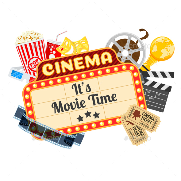 Cinema and Movie Time - Miscellaneous Vectors