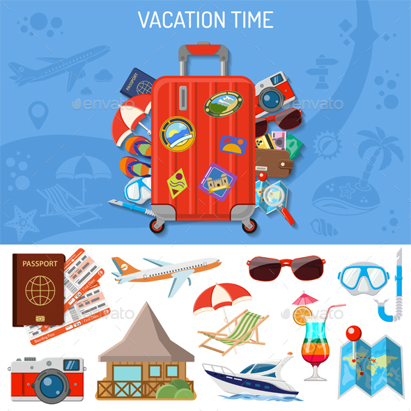Vacation and Tourism Banner - Travel Conceptual