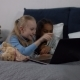 Happy Multiracial Girls Enjoying Cartoons on Laptop - VideoHive Item for Sale