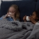 Sick Multi Ethnic Kids Drinking Hot Tea in the Bed - VideoHive Item for Sale