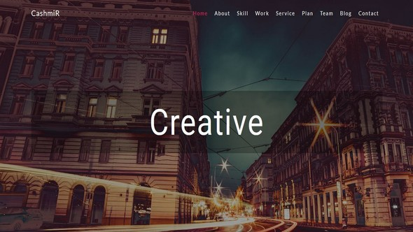 Cashmir- Multipurpose Creative Bootstrap Template - Creative Site Templates