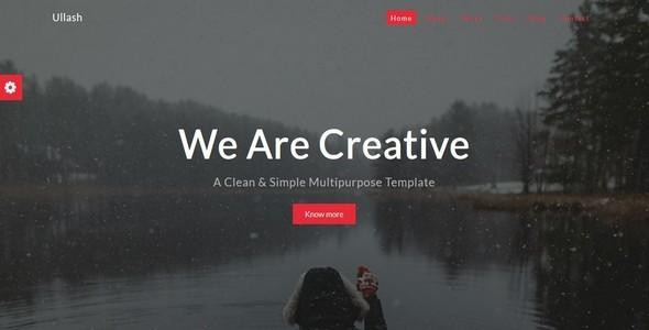 Ullash-Responsive Creative Template - Creative Site Templates