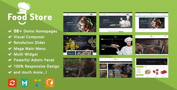 Food Store - Organic Responsive WooCommerce WordPress Theme - WooCommerce eCommerce