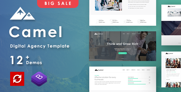 Image of Camel - Business/Digital Agency Creative Template
