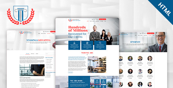 Image of Law Firm – Responsive HTML5 Template