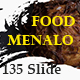 Menalo Food Multipurpose Keynote Template - GraphicRiver Item for Sale