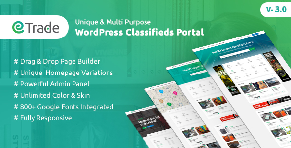 Trade - Modern Classified Ads WordPress Theme - Directory & Listings Corporate