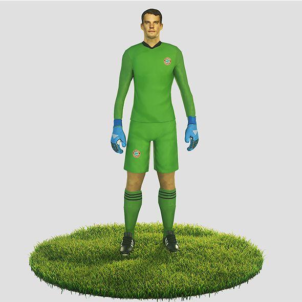 Manuel Neuer goalkeeper football player - 3DOcean Item for Sale
