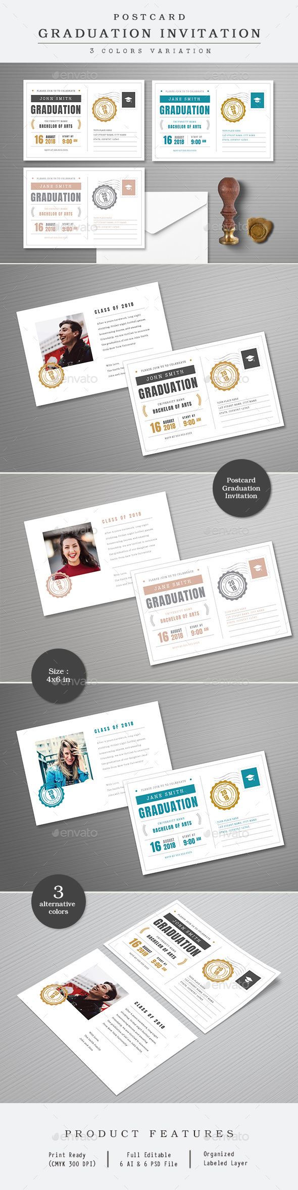 Postcard Graduation Invitation - Invitations Cards & Invites