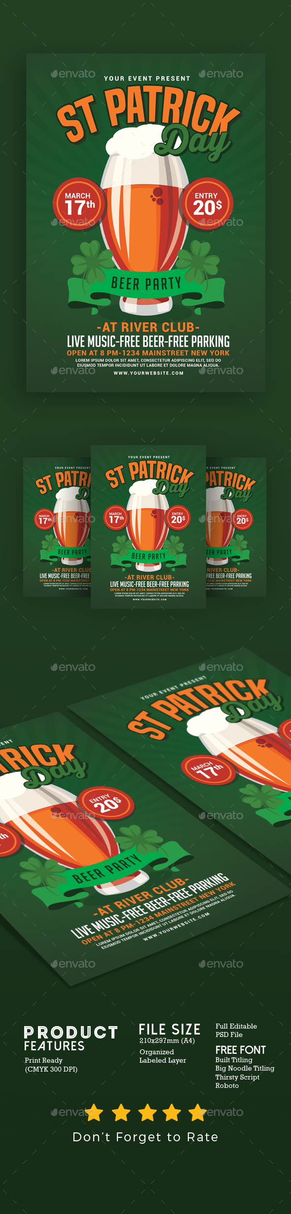 St Patricks Day Beer Party Flyer - Events Flyers