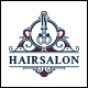 Vintage Hair Salon Logo Template