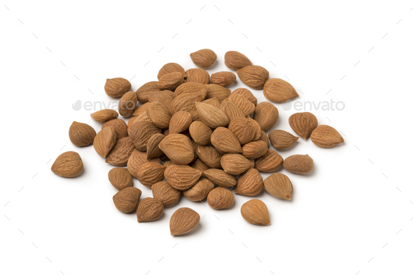 Heap of dried apricot stones - Stock Photo - Images