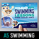 Swimming Lessons Flyer Template - GraphicRiver Item for Sale