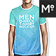 Men O-neck T-shirt Mock-up s Set