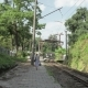 Young Girl Walks on the Railway. Georgia - VideoHive Item for Sale