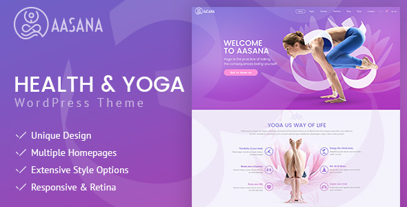 Image of Aasana - Health and Yoga WordPress Theme