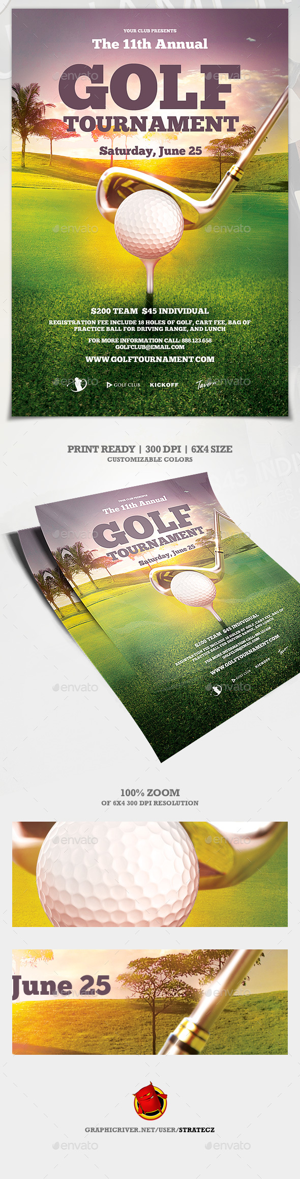Golf Flyer - Print Templates
