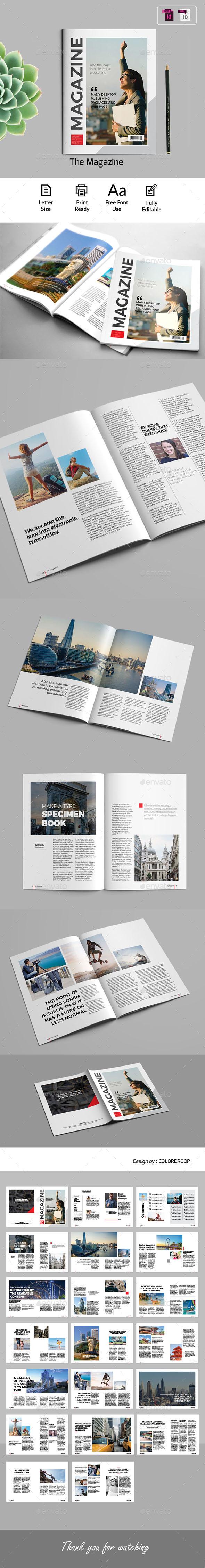 The Magazine Template - Magazines Print Templates