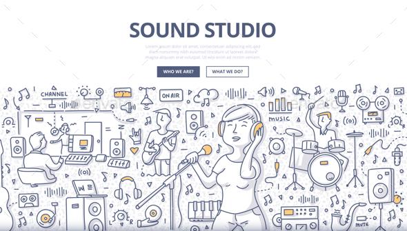 Sound Studio Doodle Concept - Miscellaneous Conceptual