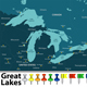 Map of Great Lakes - GraphicRiver Item for Sale