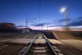 Railway platform with motion blur effect - PhotoDune Item for Sale
