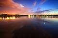 Beautiful night sky at the river with stars and clouds - PhotoDune Item for Sale