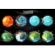 Vector Cartoon Planet Evolution Game Design Set