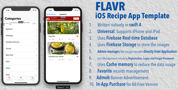 Flavr ios recipe app universal template by kalaichelvan codecanyon flavr ios recipe app universal template codecanyon item for sale forumfinder Images