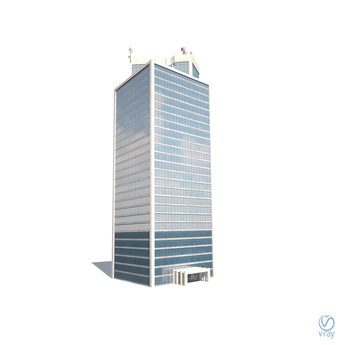 Skyscraper #12 Low Poly 3d Model