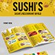 Sushi's Italian Restaurant Bifold (Volume-3) - GraphicRiver Item for Sale