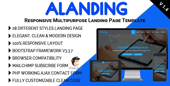 ALanding - Responsive Multipurpose Landing Page Template