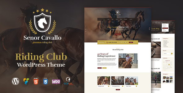 Image of Senor Cavallo - Horse Riding Club, Stables & Equestrian Sport WordPress Theme
