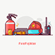 Fire Fighting Lifestyle Concept Banner - GraphicRiver Item for Sale