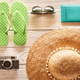 Travel and beach items flat lay - PhotoDune Item for Sale