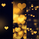 Golden Hearts Seamless Background - VideoHive Item for Sale