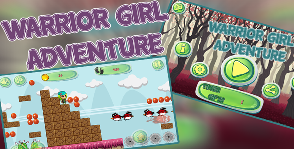 Warrior Girl Adventure – Eclipse and Android Studio Project –Admob –share & reviews Buttons - CodeCanyon Item for Sale