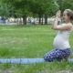 Healthy Pregnant Woman Doing Yoga in Nature Outdoors - VideoHive Item for Sale