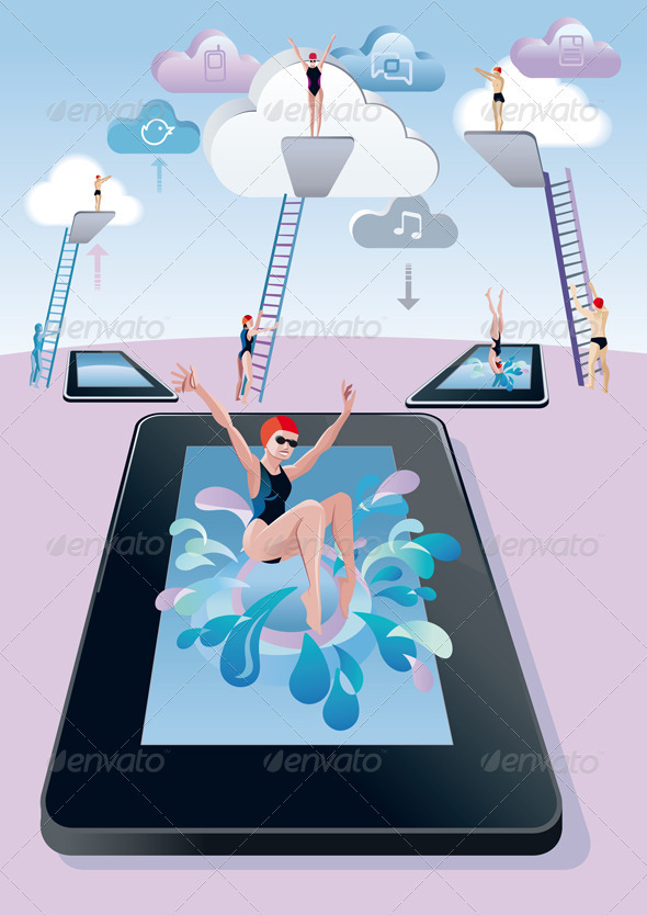 Springboard Dive  Woman Digital Tablet - Web Technology