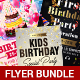 Kids Birthday Flyer Bundle - GraphicRiver Item for Sale