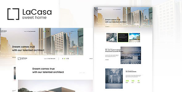 Lacasa – Interior & Exterior Decoration WordPress Theme - Real Estate WordPress