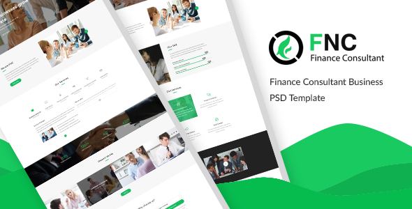 FNC - Finance & Consulting, Accounting PSD Template