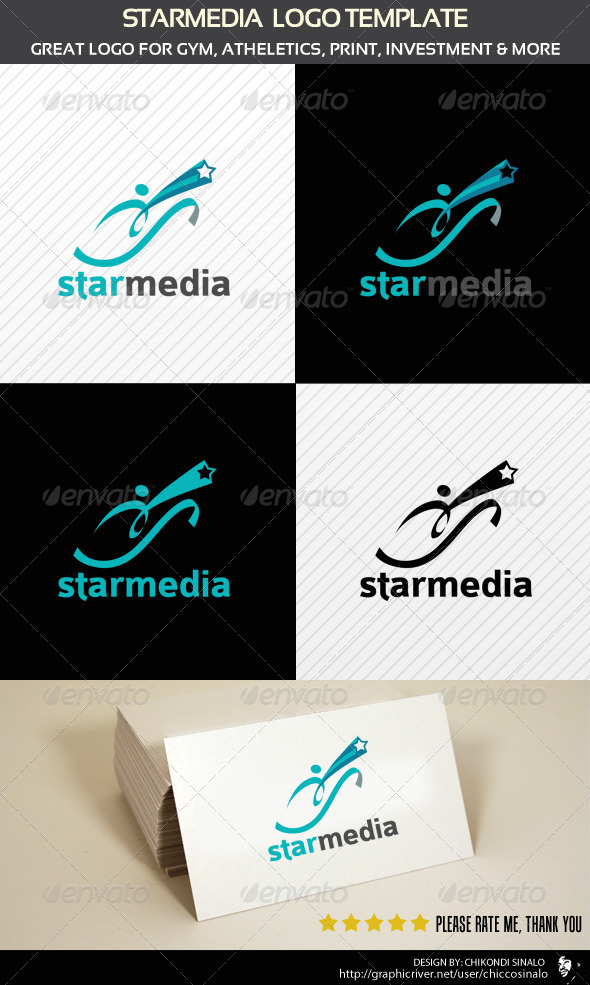 Starmedia Logo Template  - Abstract Logo Templates