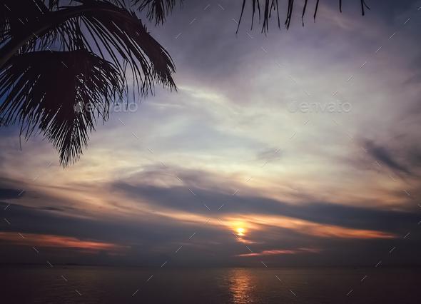 Bali beach sunset - Stock Photo - Images