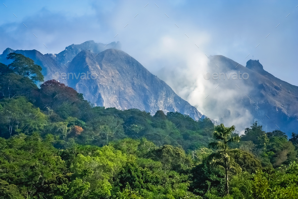 Majestic Gunung Sibayak volcano - Stock Photo - Images