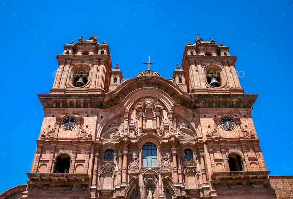 Towers of the Cathedral of Santo Domingo in Cusco - Stock Photo - Images