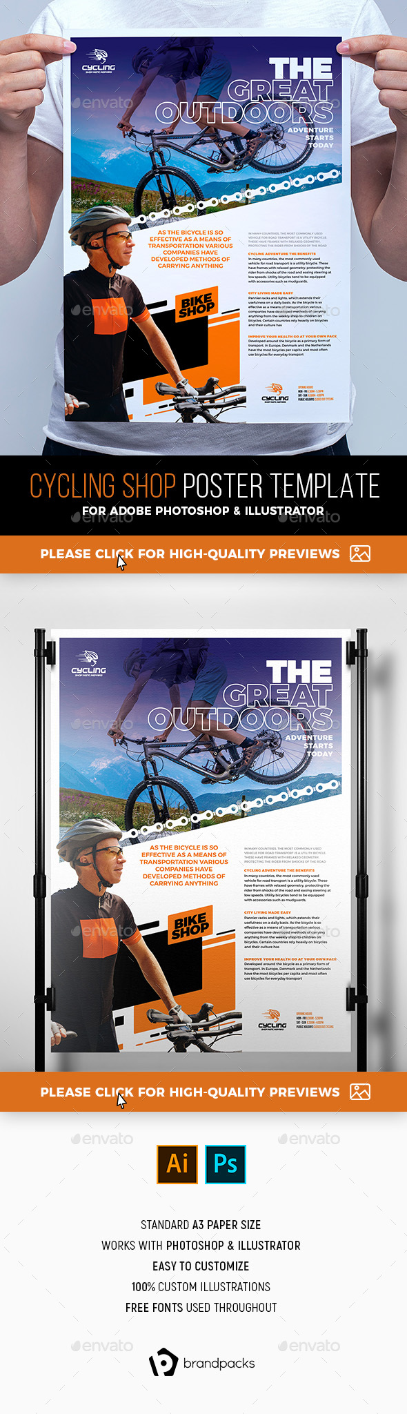 Cycling Shop Poster Template - Commerce Flyers