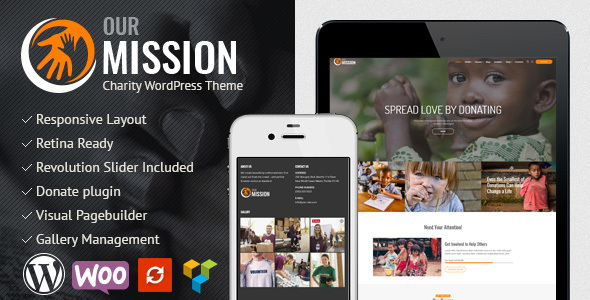 Image of Our Mission - Charity WordPress Theme