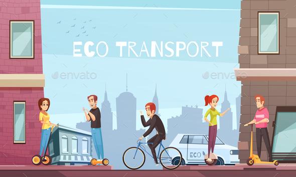 Individual Eco Transport City Poster - Travel Conceptual